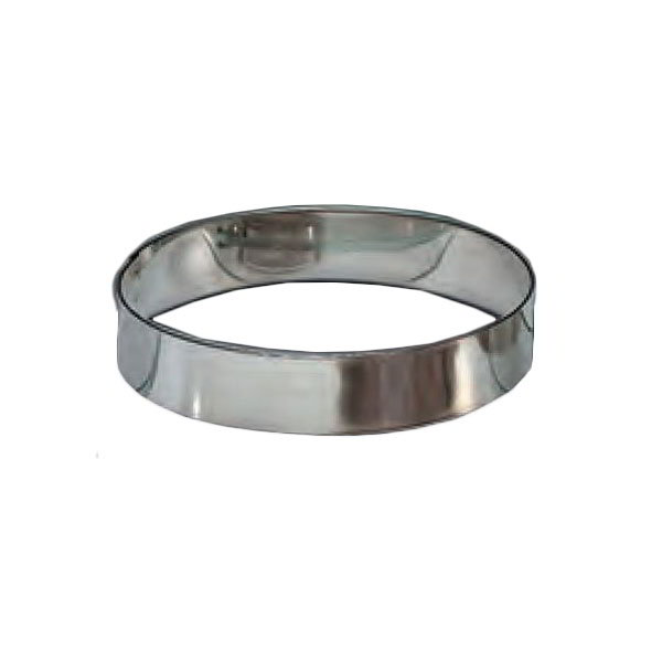 "American Metalcraft HB497 5"" Hash Brown Ring, Stainless"