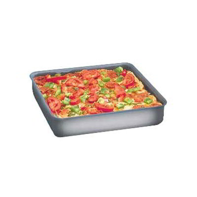"American Metalcraft HCSQ1015 Straight Sided Deep Dish Pan, 1.5"" Deep, 10x10"", Hardcoat, Aluminum"