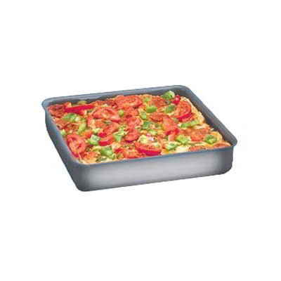 American Metalcraft HCSQ1410 Straight Sided Deep Dish Pan, 1-in Deep, 14x14-in, Hardcoat, Aluminum