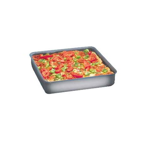 "American Metalcraft HCSQ1610 Straight Sided Deep Dish Pan, 1"" Deep, 16x16"", Hardcoat, Aluminum"