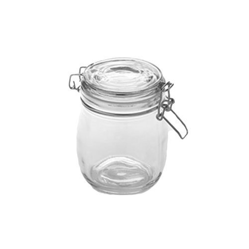 American Metalcraft HMJ5 26-oz Mason Jar with Hinged Lid - Glass