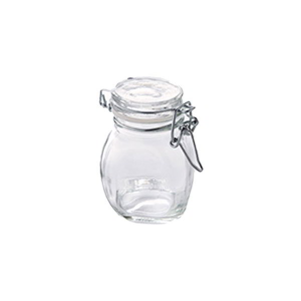american metalcraft hmmj3 3 5 oz mini mason jar with hinged lid glass. Black Bedroom Furniture Sets. Home Design Ideas