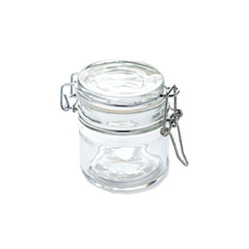 American Metalcraft HMMJ4 4-oz Mini Mason Jar with Hinged Lid - Glass