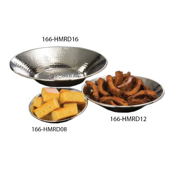 American Metalcraft HMRD08 8.5-in Round Bowl, Hammered, Stainless