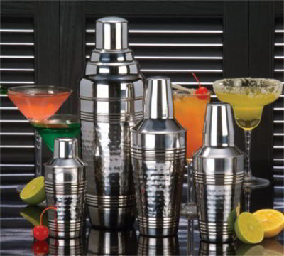 American Metalcraft HMS16 Cocktail Shaker, 16 oz, Hammered Finish