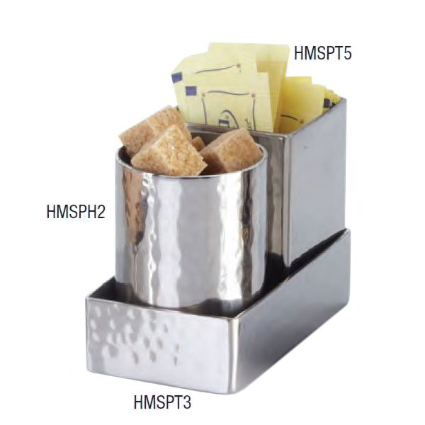 American Metalcraft HMSPH2 2-in Sugar Packet Holder, Hammered, Stainless