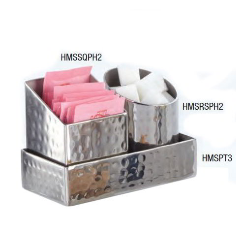 American Metalcraft HMSSQPH2 2-in Square Sugar Packet/Cube Holder, Hammered, Stainless