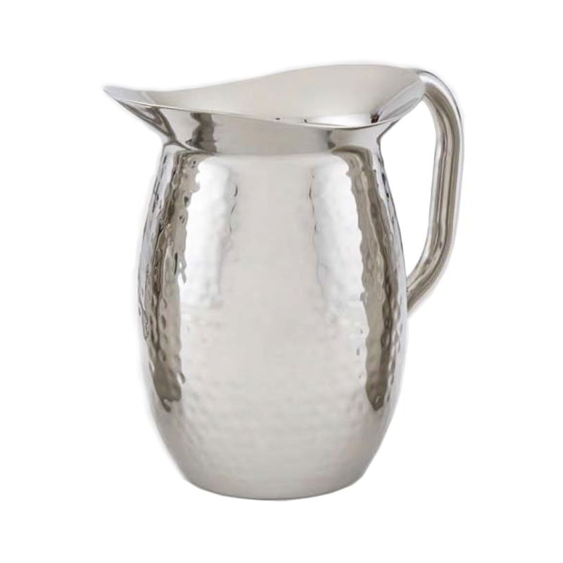 American Metalcraft HMWP44 Bell Pitcher w/ 44.8-oz Capacity & Hammered Finish, Stainless