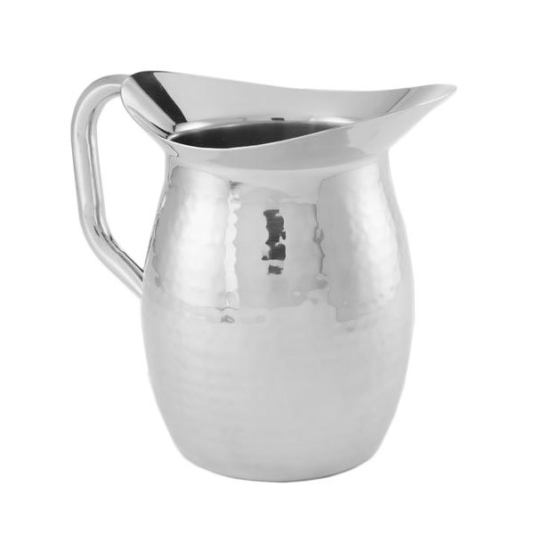 American Metalcraft HMWP64 Double Wall Pitcher w/ 64-oz Capacity, Hammered, Stainless