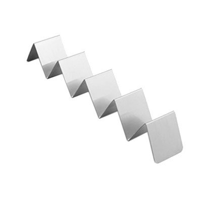 """American Metalcraft HTSH5 Taco Holder - 2x13-1/4x2"""" Stainless"""