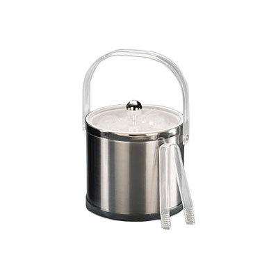American Metalcraft IBS32 Ice Bucket w/ 3-qt Capacity & Bale Handle, Silver