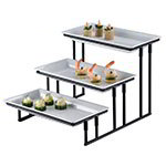 American Metalcraft IS18 3-tier Display Stand w/ Stair Step, Wrought Iron