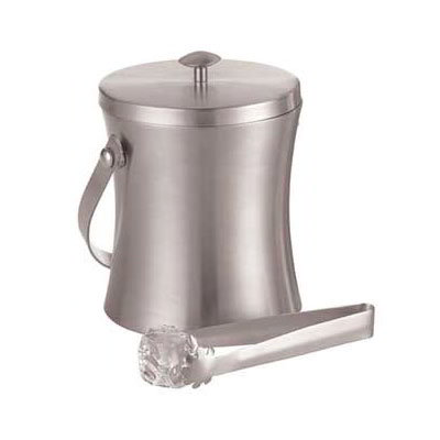 American Metalcraft ISSB6 4.87-in Ice Bucket w/ 34-oz Capacity & Ice Tong, Satin/Stainless
