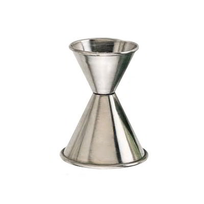 American Metalcraft J214 Double Jigger - 0.5 & 1.25 oz., Satin Stainless w/Rolled Edge