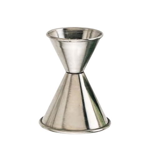 American Metalcraft J267 Jigger w/ Rolled Edge & 1.75x1.75-oz Capacity, Satin/Stainless