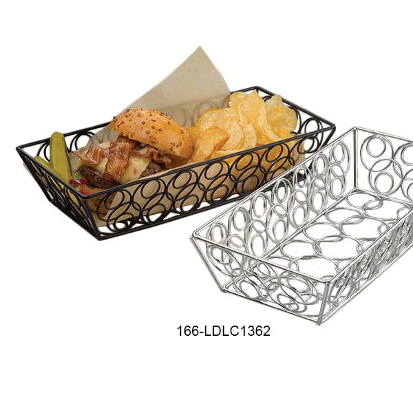 "American Metalcraft LDLC1362 13"" Rectangular Basket, Chrome"