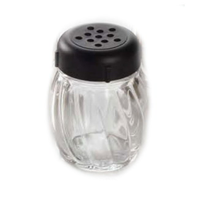 American Metalcraft LXBP 6-oz Lexan Shaker - Perforated Black Lid