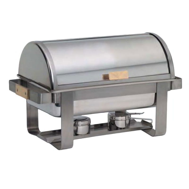 American Metalcraft MACD3 Full Size Chafer w/ Roll-top Lid & Chafing Fuel Heat