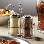American Metalcraft MCADDY 2-Compartment Shaker Caddy, Stainless