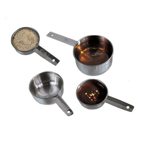 American Metalcraft MCL4 Measuring Cup Set w/ 1-Cup & Flat Handle, Stainless