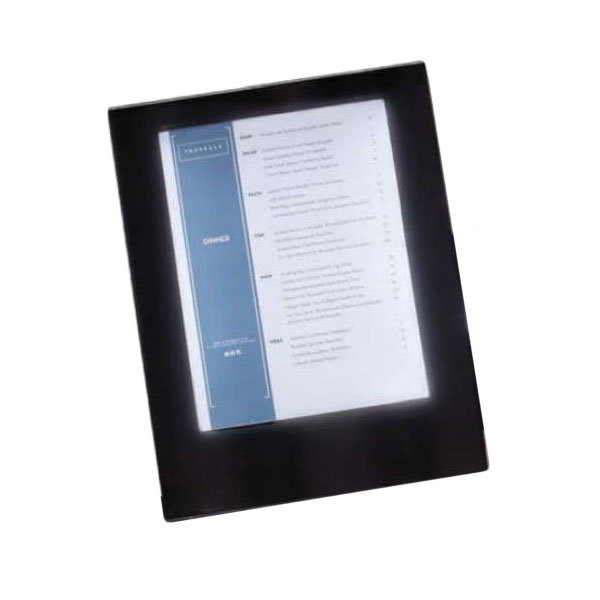 "American Metalcraft MCLDSLSBL Single-Page Menu Cover - 13-3/4x10-1/2"" Black Vinyl"