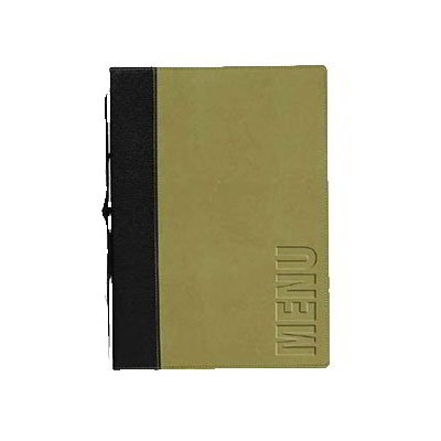 American Metalcraft MCTRLSGR Menu Cover w/ De-Bossed Lettering & 2-Page Insert, Green
