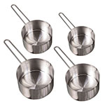 American Metalcraft MCW4 4-Piece Measuring Cup Set w/ Wire Loop Handle, Stainless