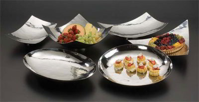 American Metalcraft MDR1509 Platter, 15 L x 8-3/8 W x 3-3/8 H, Rectangle, Stainless, Muddled Fini