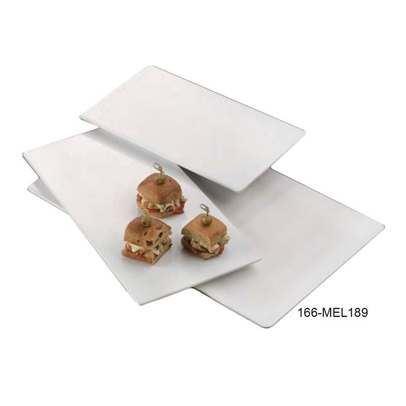 "American Metalcraft MEL189 Flat Rectangular Platter, 18.25x9"", Melamine"