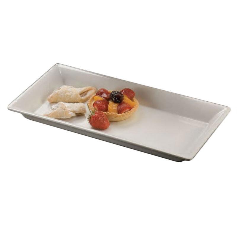 American Metalcraft MEL19 Rectangular Platter, 14.25x7.5-in, Melamine/White