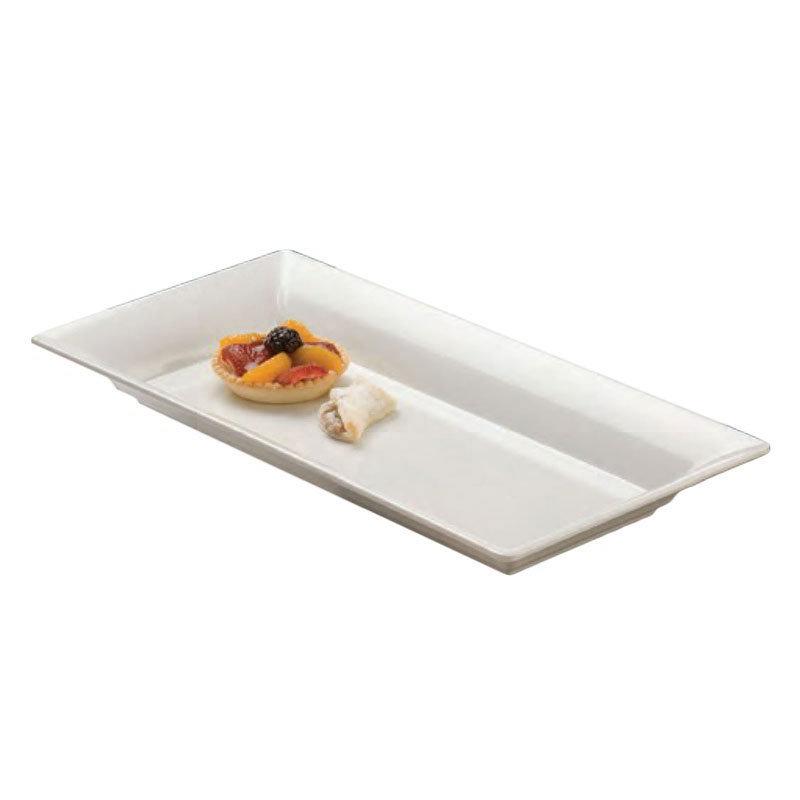 "American Metalcraft MEL23 Rectangular Platter, 18x8.25"", Melamine/White"