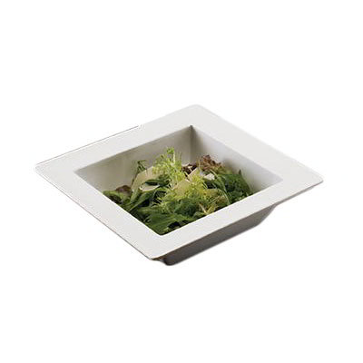 American Metalcraft MEL40 9.75-in Square Bowl, Melamine/White