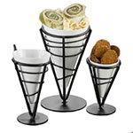 "American Metalcraft MELFCW475 4"" Fry Cone w/ 5.75-oz Capacity, Melamine/White"