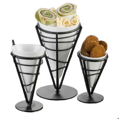 "American Metalcraft MELFCW535 5"" Fry Cone w/ 10-oz Capacity, Melamine/White"