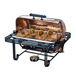 American Metalcraft MESA72C Rectangular Roll Top Chafer Set w/ 8-qt Capacity, Wrought Iron/Copper