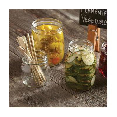 American Metalcraft MJ85 8-1/2-oz Glass Mason Jar - Clear