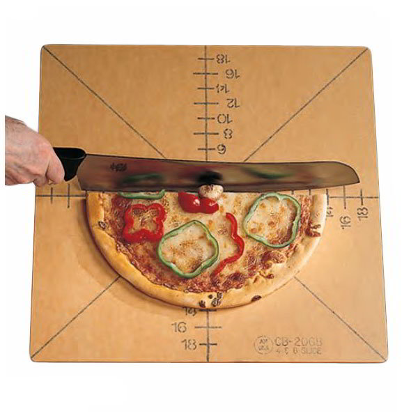 American Metalcraft MPCUT6 Pizza Slicing Board w/ Marking For 6-Slice, Pressed Wood