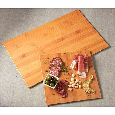 """American Metalcraft MPLB Rectangle Serving Board - 21"""" x 12.5"""", Bamboo Melamine"""