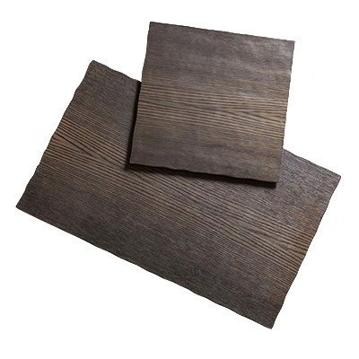 "American Metalcraft MPSW 11.25"" Square Serving Board - Walnut Melamine"