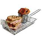 American Metalcraft MRECBSKT Rectangular Grid Basket, Stainless