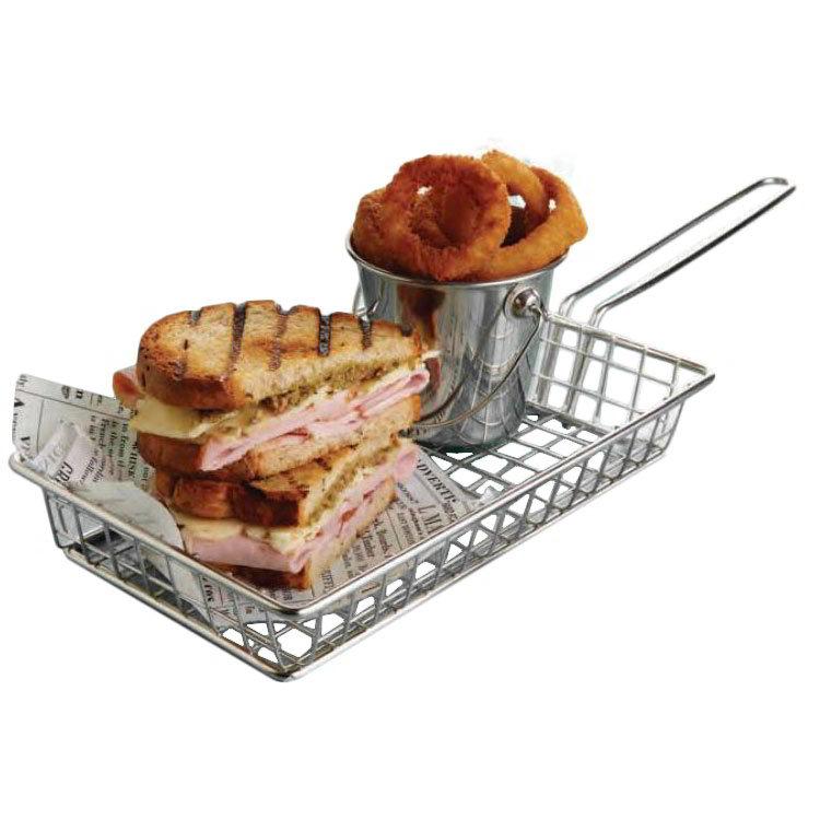 American Metalcraft MRECBSKT Rectangular Grid Basket, Stainless
