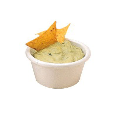 American Metalcraft MRF450W Ramekin 3-1/2 oz Capacity Fluted Sides Melamine White Restaurant Supply