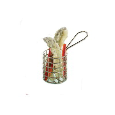 "American Metalcraft MRNDBSKT 1.62"" Tiny Fry Basket w/ Handle, Stainless"