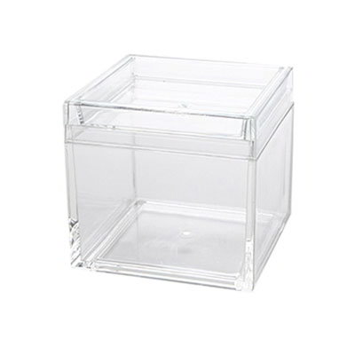 American Metalcraft MSSB4 21-oz Square Storage Box - Clear Acrylic
