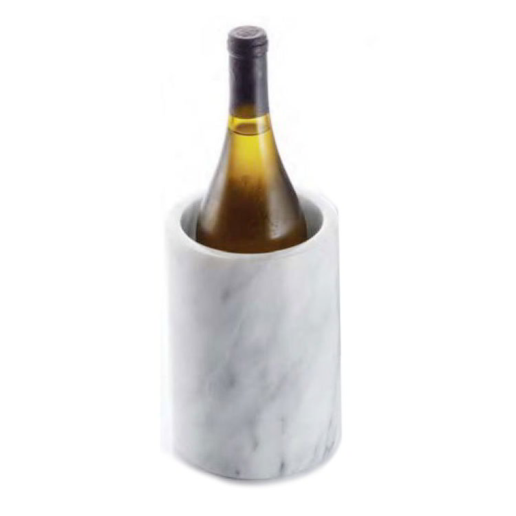 American Metalcraft MWC57WHITE Wine Cooler, 7 in, Keeps Proper Temperature Up To 2 hrs, Marble, White