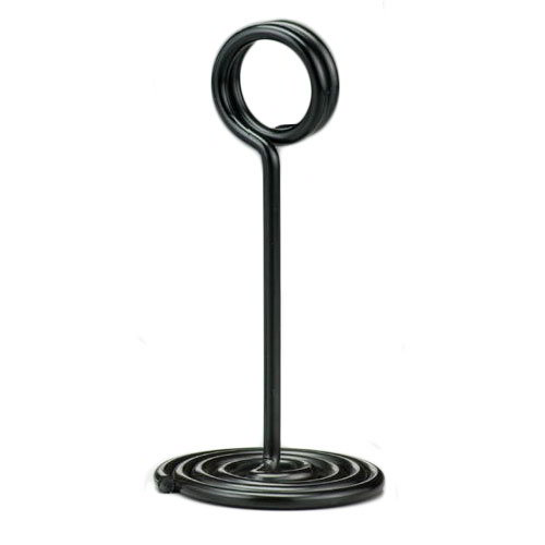 American Metalcraft NSB4 Number Stand Swirl Base 4 in Black Restaurant Supply
