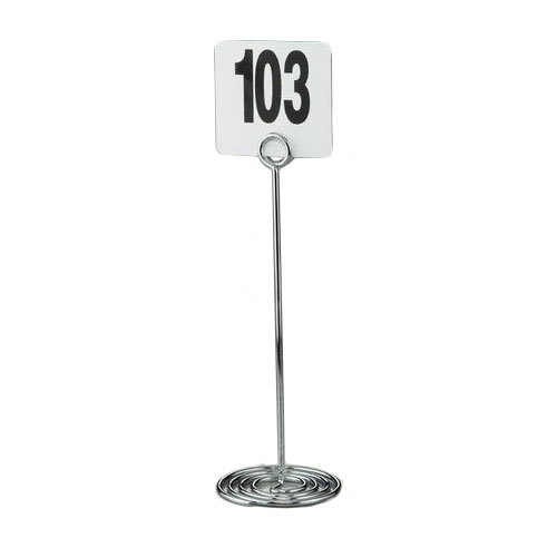 "American Metalcraft NSC12 12"" Number Card Holder - Chrome"