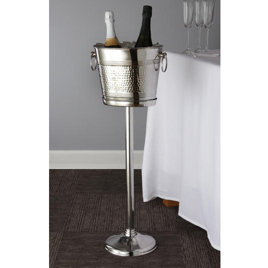 American Metalcraft O2BWB Oval Wine Bucket, Hammered Finish, Stainless