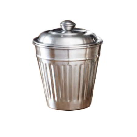 "American Metalcraft OLID 3-3/4"" Mini Replica Trash Can Server Lid - Stainless"