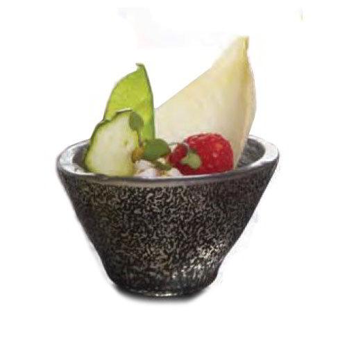 American Metalcraft ORSRBK 2.5-oz Round Sauce Cup, Glass, Black
